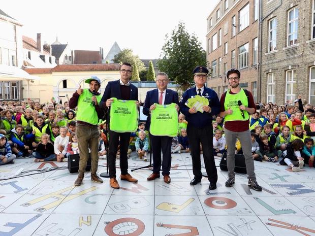 500 leerlingen van basisschool SLHD in Brugge worden 'ambassadeur in het verkeer'