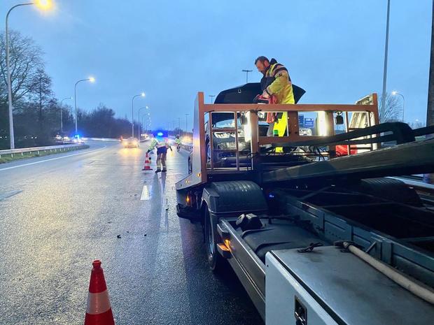 Twee mensen lichtgewond bij ongeval op de E40 in Brugge