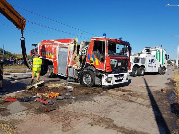 800 euro boete en 15 dagen rijverbod voor brandweerman die onder invloed kantelde met tankwagen