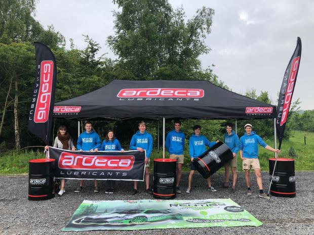 Ardeca steunt tijdens Renties Ypres Rally locale vzw met 'Ardeca Area'