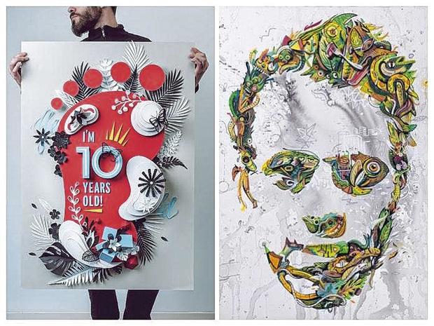 Grafische ontwerpers over papier