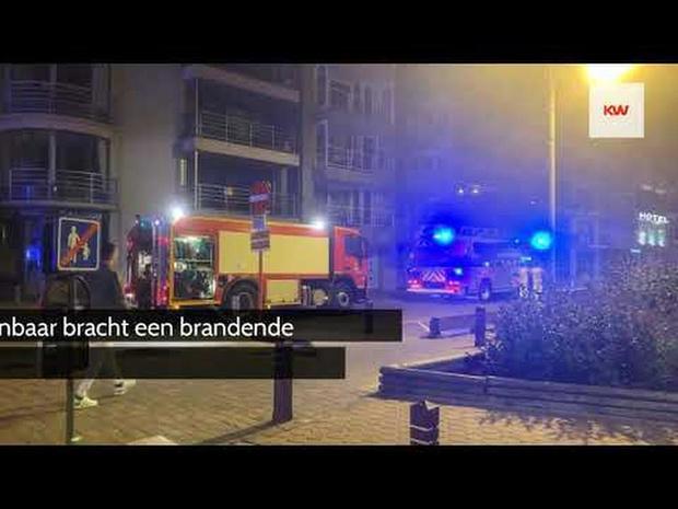 Vuilnisbak met keukenresten vat vuur en veroorzaakt rookschade in Blankenbergs r