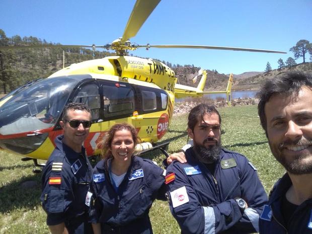 Sauvetage en hélico aux îles Canaries
