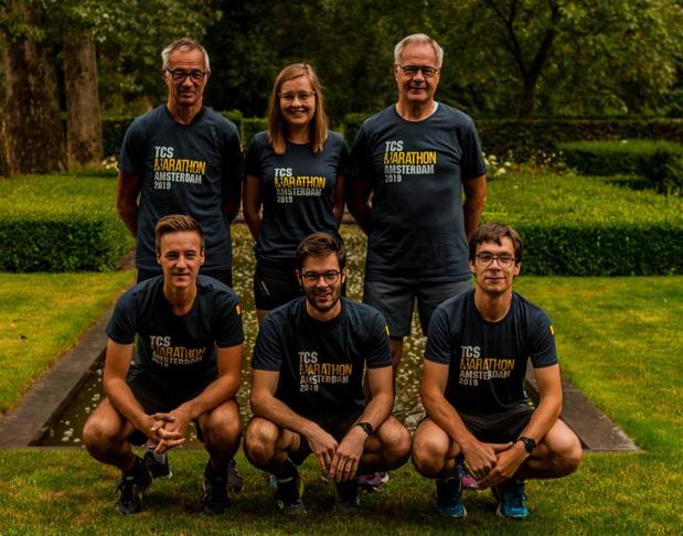 Familie D'hondt uit Roeselare loopt samen de marathon uit