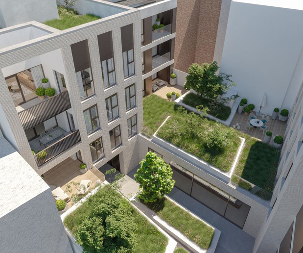 Oud politiekantoor in Kortrijk maakt plaats voor groen woonproject
