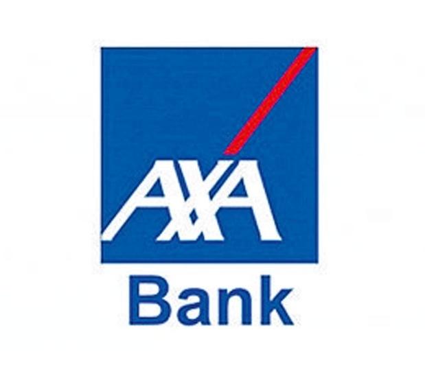 La Banque AXA à l'étalage