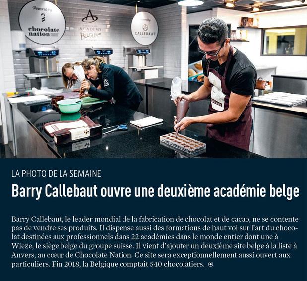 Barry Callebaut ouvre une deuxième académie belge