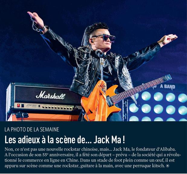 Les adieux à la scène de... Jack Ma !