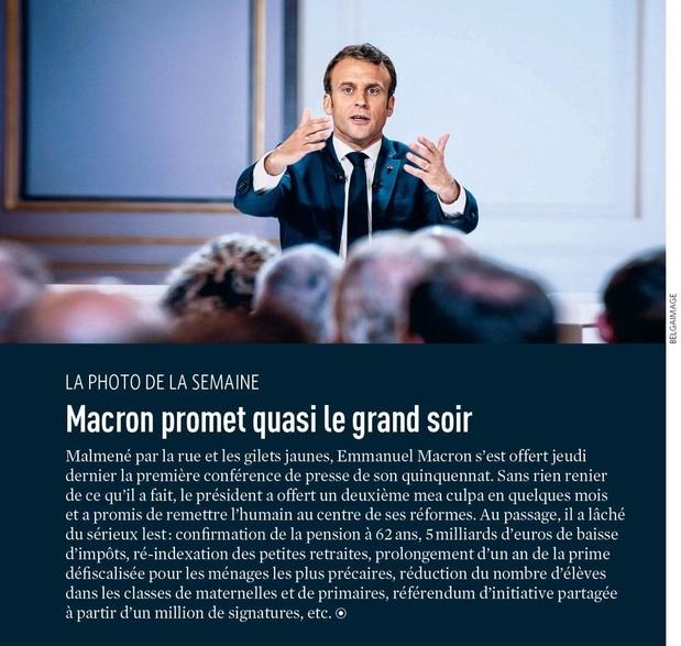 Macron promet quasi le grand soir