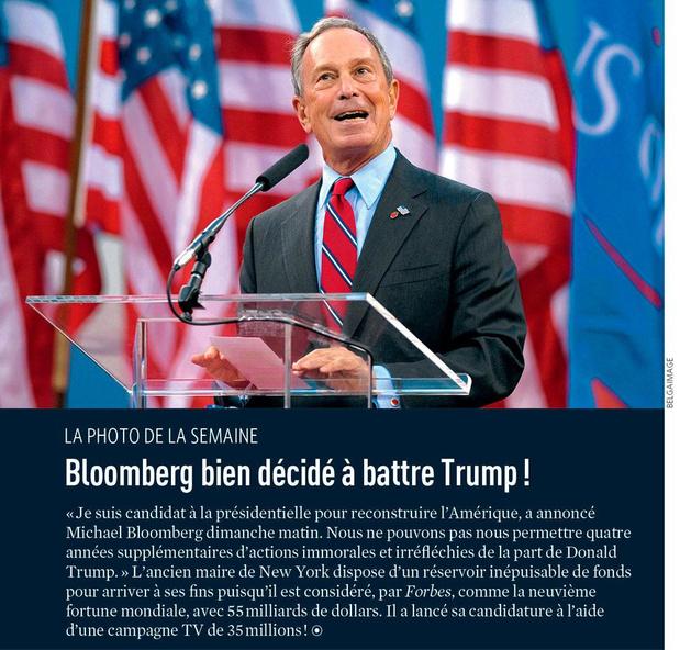 Bloomberg bien décidé à battre Trump !