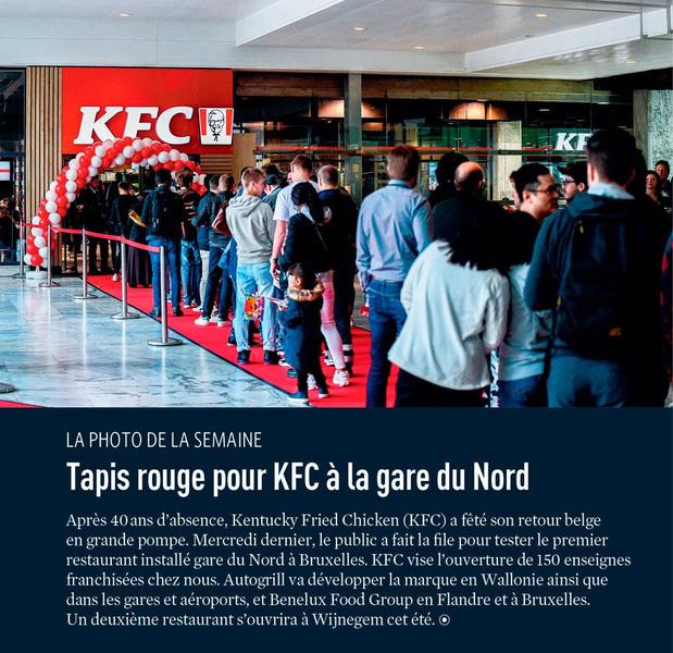 Tapis rouge pour KFC à la gare du Nord