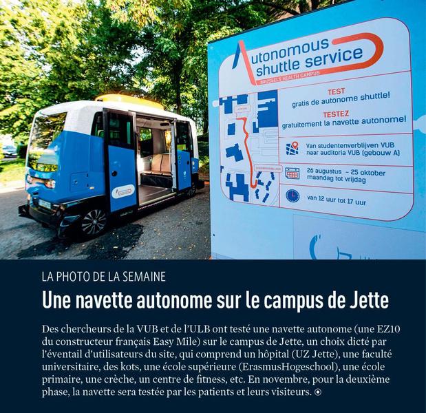 Une navette autonome sur le campus de Jette