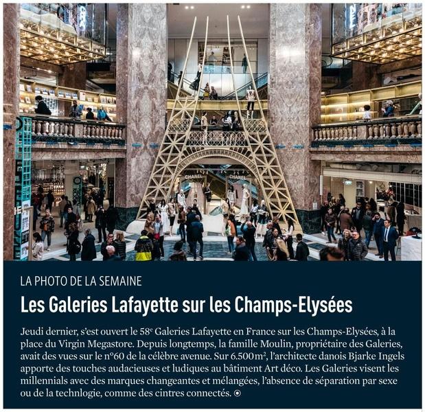 Les Galeries Lafayette sur les Champs-Elysées