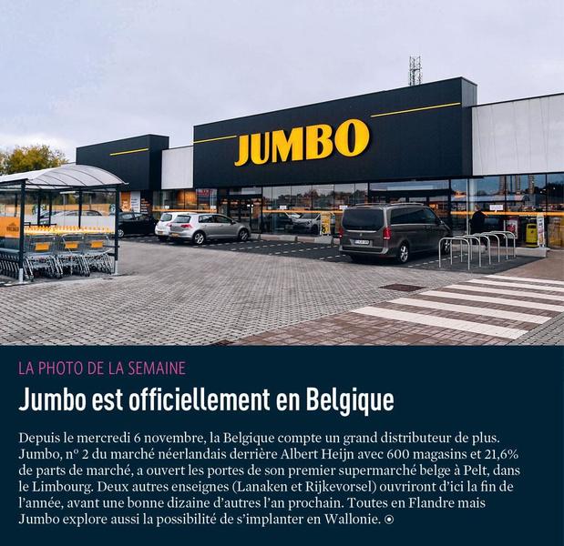 Jumbo est officiellement en Belgique