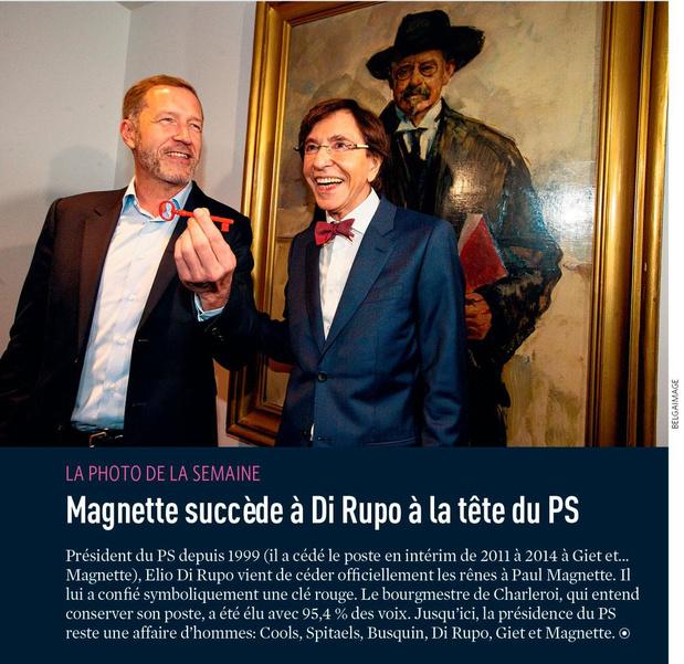 Magnette succède à Di Rupo à la tête du PS