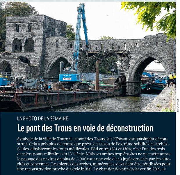 Le pont des Trous en voie de déconstruction