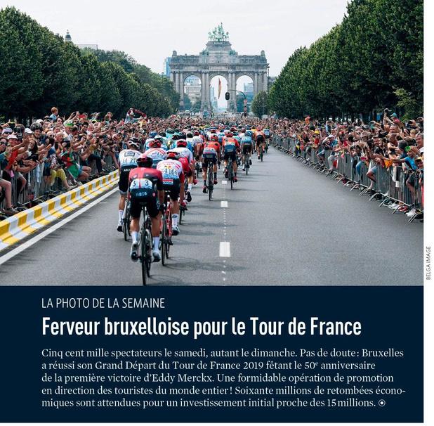 Ferveur bruxelloise pour le Tour de France