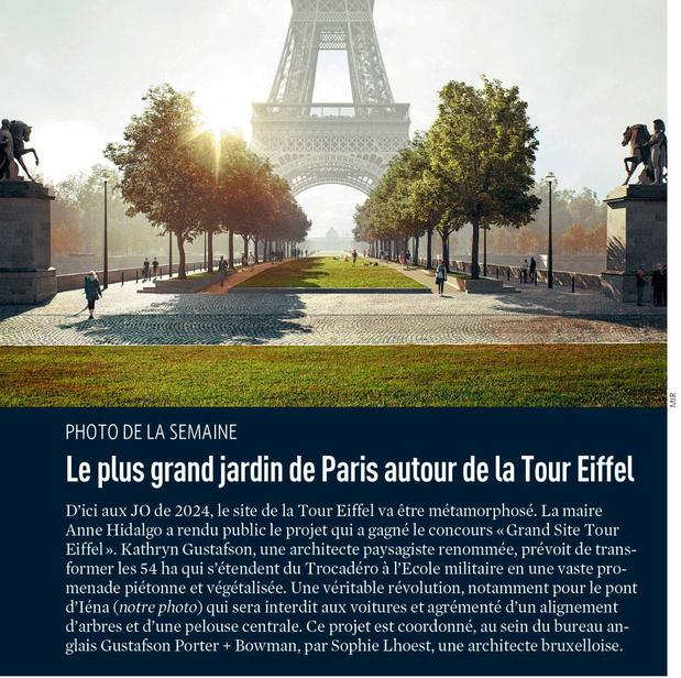 Le plus grand jardin de Paris autour de la Tour Eiffel