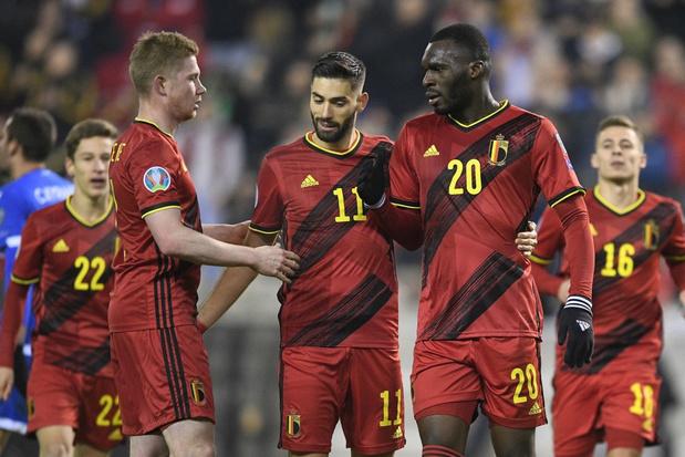België sluit EK-kwalificaties af met historische dertig op dertig na 6-1 zege tegen Cyprus