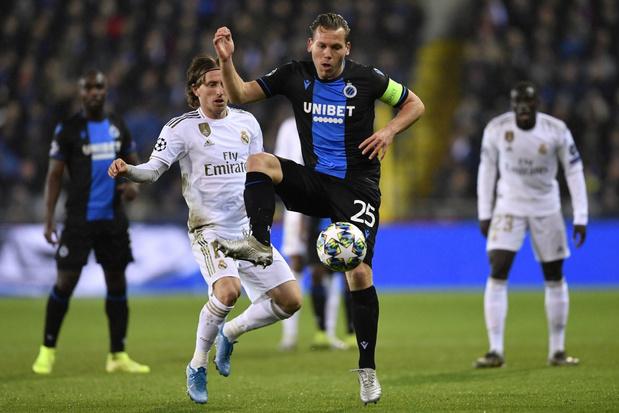 Club Brugge overwintert in Europa League ondanks nederlaag tegen Real