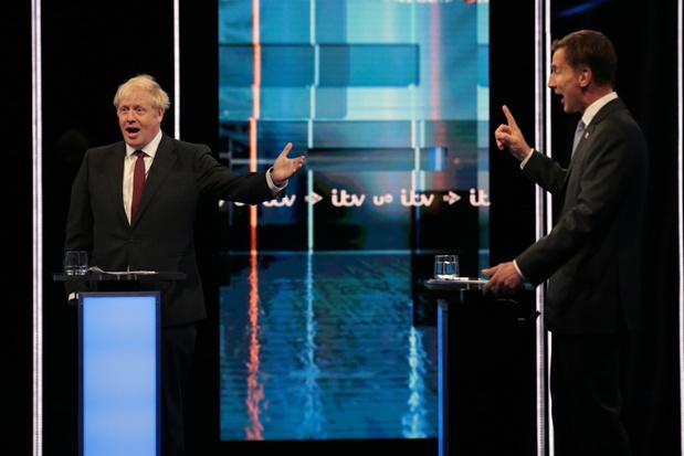 Gespannen debat tussen Boris Johnson en Jeremy Hunt