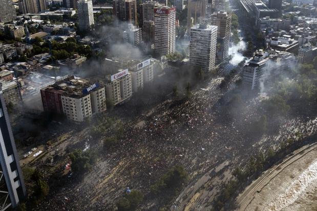 Meer dan 200.000 Chilenen komen op straat om te betogen