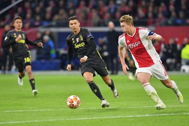 Ajax krijgt niet wat het verdient tegen passief Juventus, Barça zuinig voorbij ManU