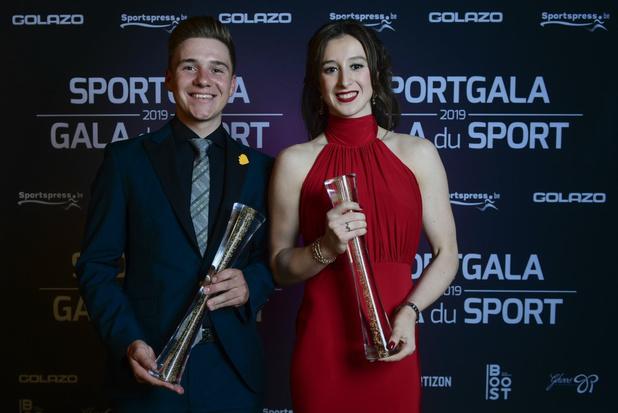 Sportgala 2019: Nina Derwael opnieuw sportvrouw- Remco Evenepoel sportman van het jaar