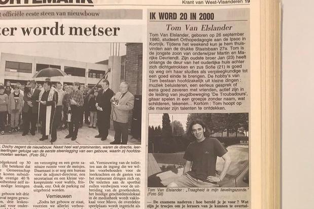 """Tom Van Elslander was 20 in 2000: """"40 worden is een kantelpunt"""""""