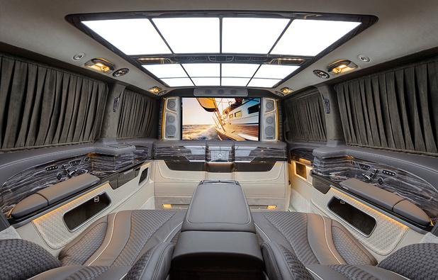Zart Mercedes Classe V: confinés dans le luxe extrême