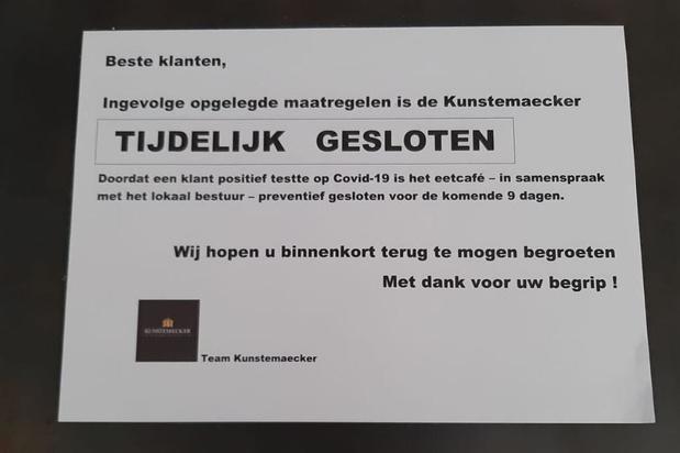 Kunstemaecker in Steenkerke sluit preventief de deuren