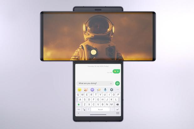 LG stelt smartphone met draaibaar scherm voor
