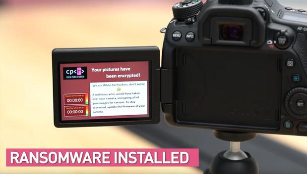 Les appareils photo numériques vulnérables au ransomware