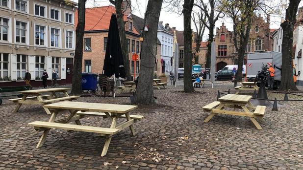 Heisa omtrent picknickbanken op Brugse pleintjes blijkt op misverstand te berusten