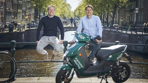 Elektrische deelscooters van Nederlandse Felyx steken grens over naar Brussel