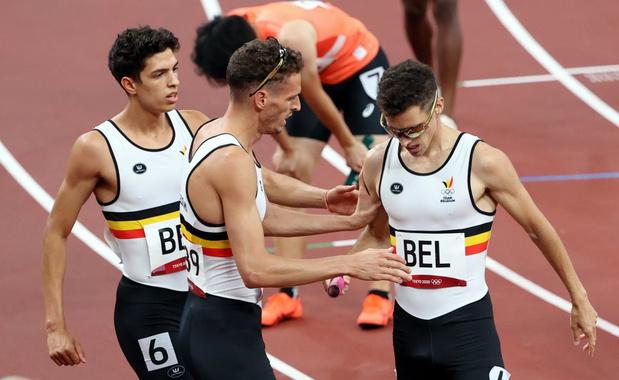 Les Belgian Tornados en finale du relais 4X400 m