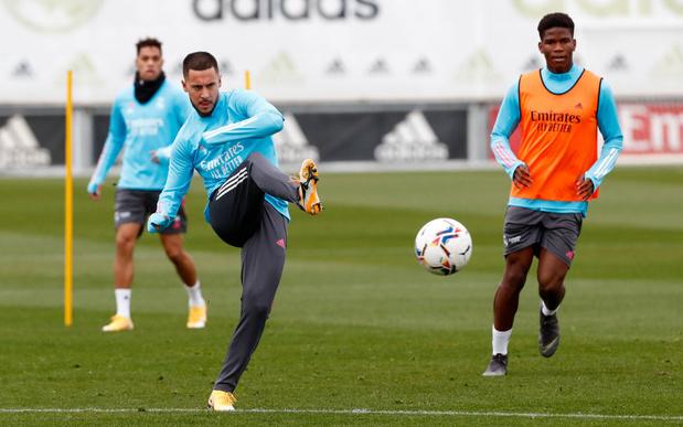 Eden Hazard a repris les entraînements collectifs avec le Real Madrid