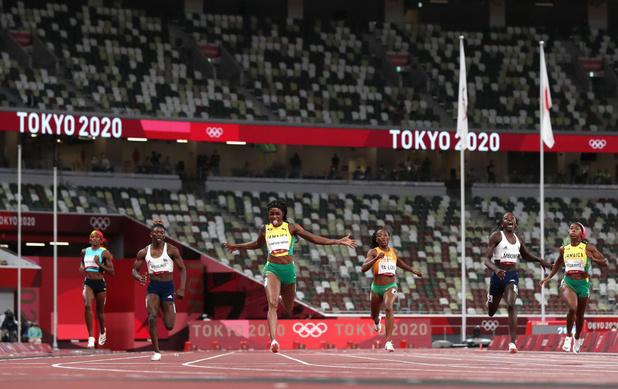 Elaine Thompson-Herah réalise le doublé 100 et 200 mètres