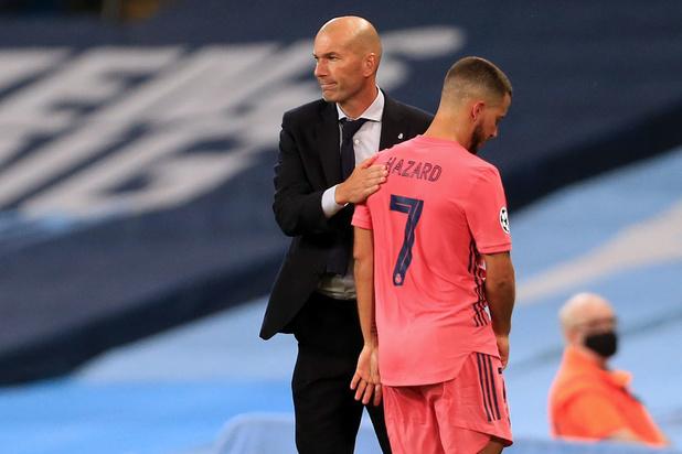 """Zidane après la blessure d'Eden Hazard: """"Il est énervé car il se sentait bien"""""""
