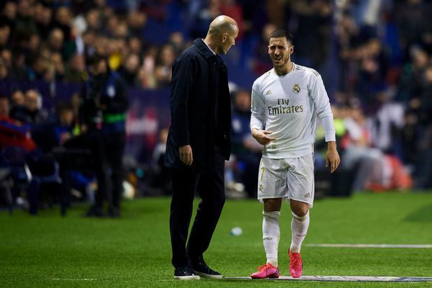 Zidane avoue qu'il ne sait pas si Hazard rejouera cette saison