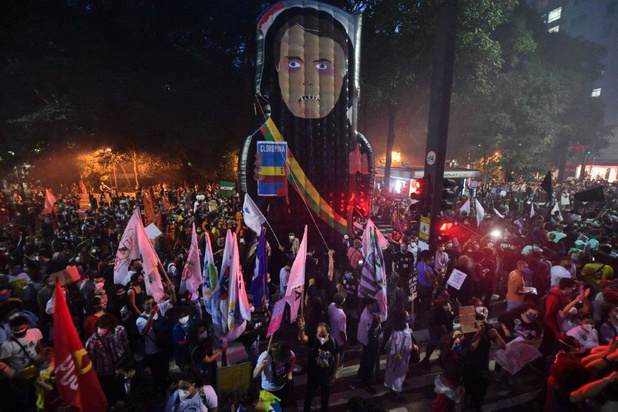 Tienduizenden Brazilianen betogen tegen Bolsonaro