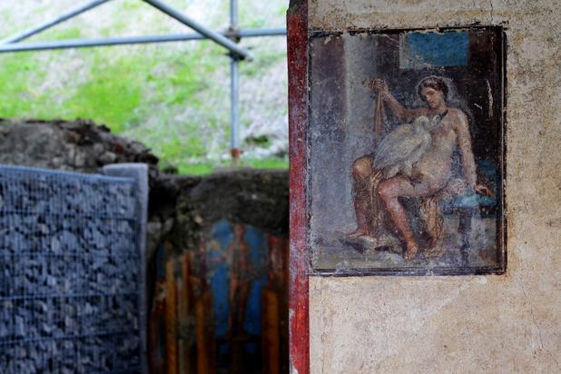 Villa met erotische fresco en thermen open voor publiek in Pompeii