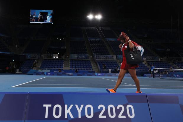 La flamme olympique de Naomi Osaka s'est éteinte dès les 1/8e de finale