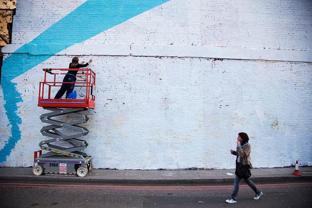 Steden zetten nationale feestdag in de verf met streetart