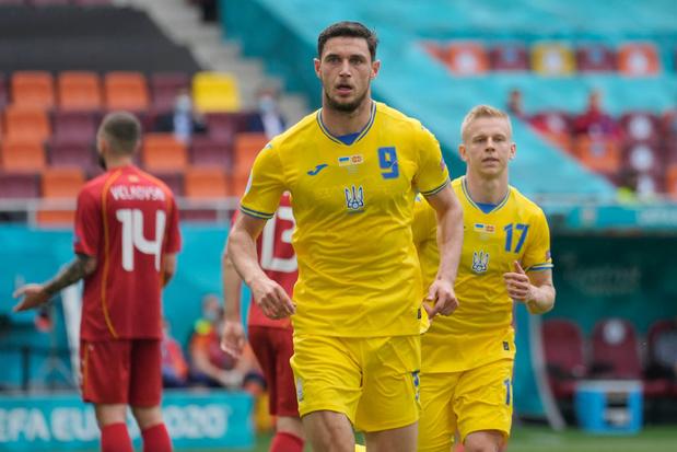 L'Ukraine s'impose difficilement contre la Macédoine du Nord (2-1)