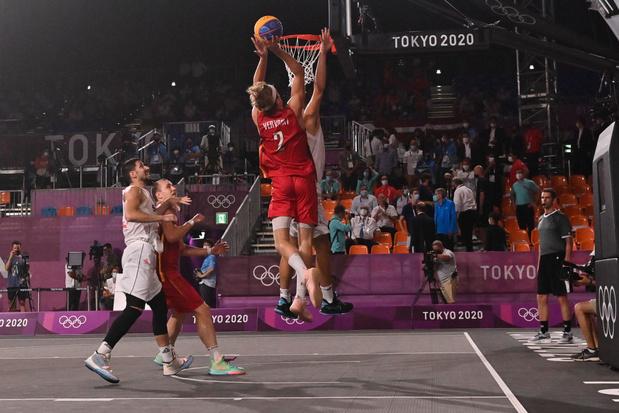 Un tournoi réussi, mais pas de médaille de bronze pour l'équipe belge de basket 3X3