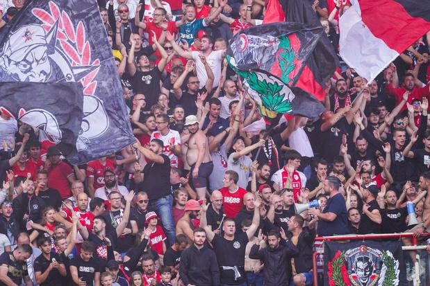 Le Standard écope d'une amende de 4.000 euros pour le comportement de ses supporters contre Anderlecht