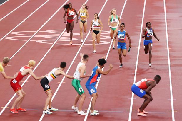 Le relais mixte du 4X400 m se hisse en finale en améliorant le record de Belgique