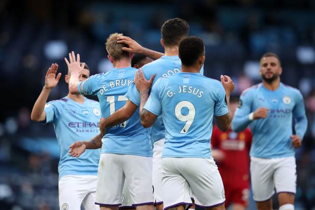 Un but et un assist pour De Bruyne, City écrase Liverpool