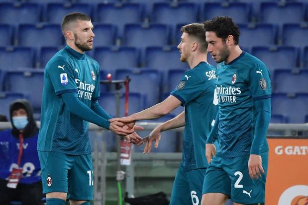 Avec un assist de Saelemaekers, l'AC Milan l'emporte à l'AS Rome